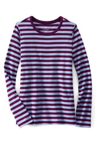 Gestreiftes Rundhalsshirt in Petite-Größe