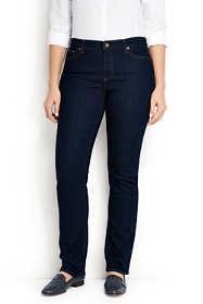 Women's Plus Size Mid Rise Straight Leg Jeans