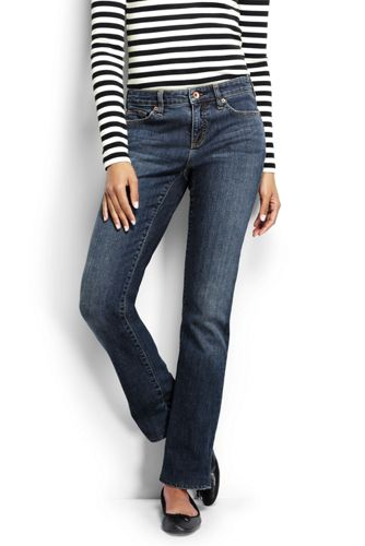 Medium Rinse Straight Jeans für Damen