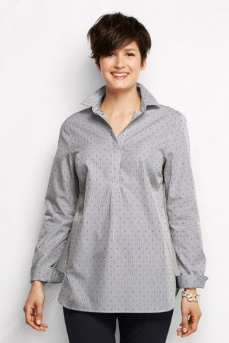 Women's Regular Patterned Supima® Non-Iron Tunic