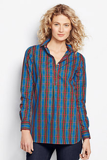 Women's Patterned Supima® Non-Iron Tunic