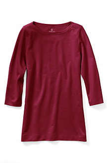Women's Starfish Three-Quarter Sleeve Plain Boatneck Tunic
