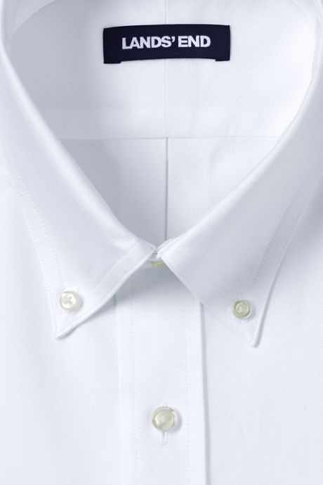 Men's Tall Tailored Fit Solid Supima Oxford Hyde Park Dress Shirt
