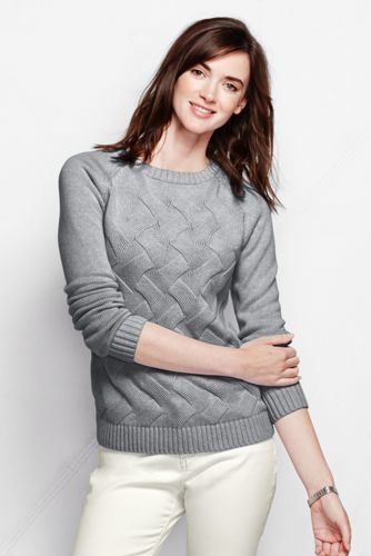 Women's Regular Plain Drifter™ Basketweave Crew Neck
