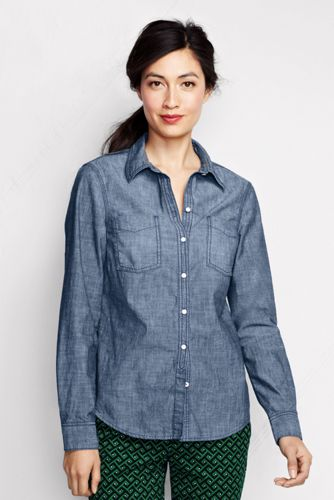 Women's Regular Chambray Shirt