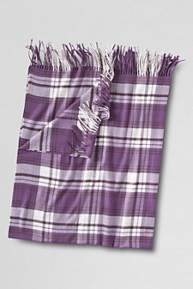 Cashtouch Plaid/Stripe Throw