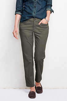 Women's Low Rise Plain Slim Leg Chinos