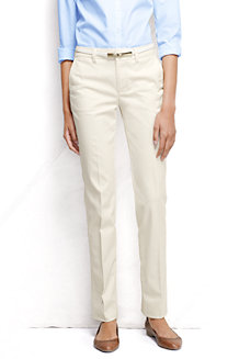 Women's Mid Rise Straight Leg Chinos