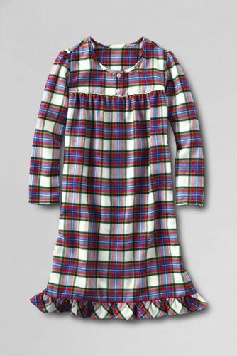 Girls' Long Sleeve Flannel Nightie