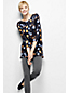 Women's Regular Three Quarter Sleeve Starfish Boatneck Print Tunic