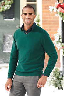 Men's Fine Gauge Cashmere V-neck Sweater, alternative image