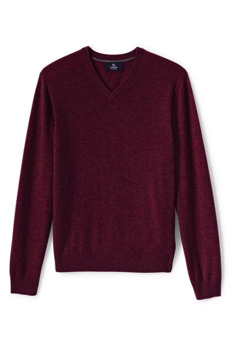 Men's Tall Fine Gauge Cashmere V-neck Sweater