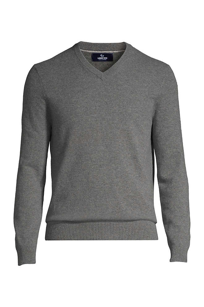 Men's Fine Gauge Cashmere V-neck Sweater, Front