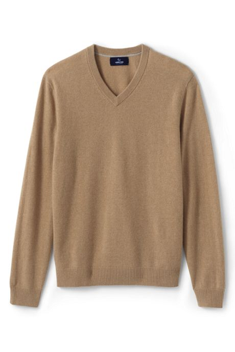 Men's Fine Gauge Cashmere V-neck Sweater