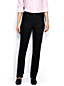 Women's Regular Black Mid Rise Straight Leg Jeans