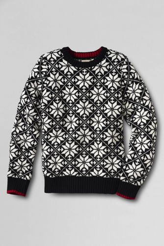 Boy's Pattern Crew Neck Jumper