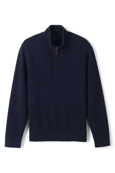 Men's Big and Tall Bedford Rib Quarter Zip Sweater