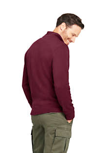 Men's Bedford Rib Quarter Zip Sweater, Back
