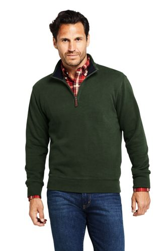 a9ea0b93d Men's Bedford Rib Quarter Zip Sweater from Lands' End