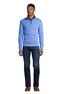 Men's Tall Bedford Rib Quarter Zip Sweater, alternative image