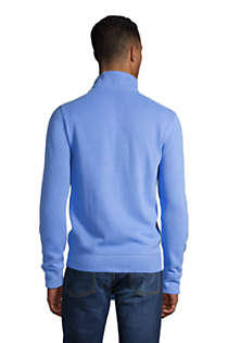 Men's Tall Bedford Rib Quarter Zip Sweater, Back