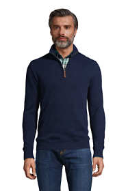 Men's Tall Bedford Rib Quarter Zip Sweater