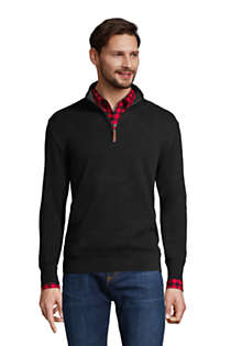 Men's Tall Bedford Rib Quarter Zip Sweater, Front