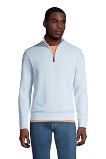 Zipper-Pullover aus Bedford-Ripp für Herren