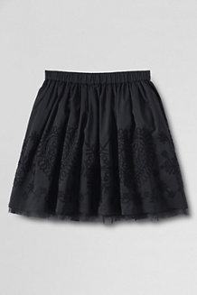 Girls' Embroidered Taffeta Skirt