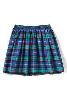 Girls' Plaid Taffeta Skirt