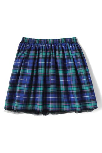 Girls Plaid Taffeta Skirt from Lands' End