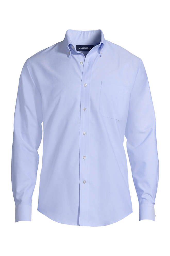 Men's Tall Long Sleeve Buttondown Oxford Shirt, Front