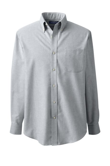 Men's Big Long Sleeve Buttondown Pattern Oxford Shirt