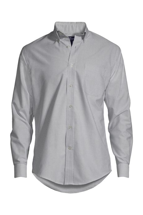Men's Long Sleeve Button Down Pattern Oxford Shirt