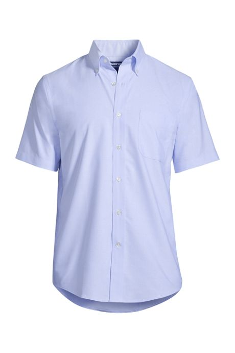 Men's Short Sleeve Buttondown Stain Release Oxford Sport Shirt