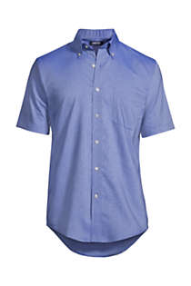 Men's Big & Tall Short Sleeve Buttondown Stain Release Oxford Sport Shirt, Front