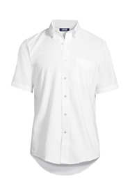 Men's Big & Tall Short Sleeve Buttondown Stain Release Oxford Sport Shirt