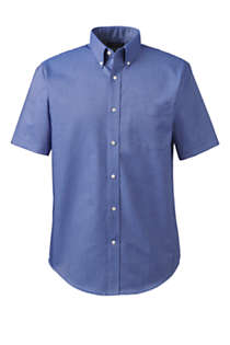 Men's Big & Tall Short Sleeve Buttondown Stain Release Oxford Sport Shirt, alternative image