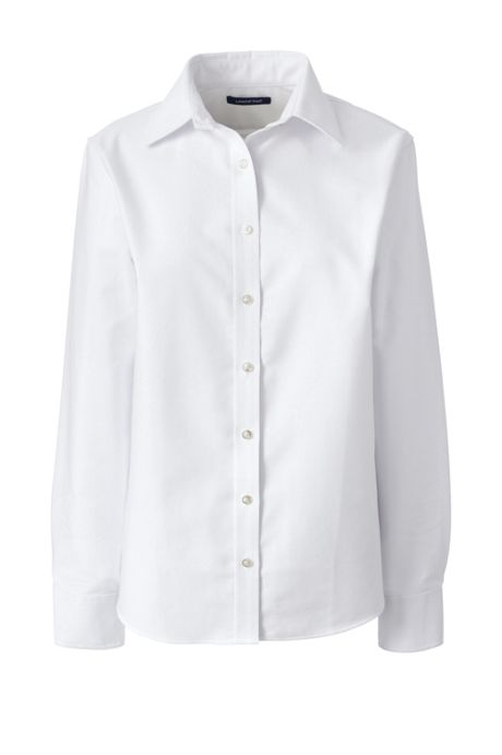 School Uniform Women's Plus Size Long Sleeve Oxford Shirt