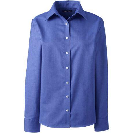Women's Long Sleeve Oxford Shirt