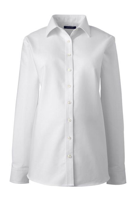 Women's Maternity Long Sleeve Oxford Shirt
