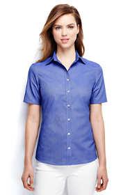 Women's Plus Size Short Sleeve Oxford Shirt