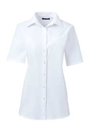School Uniform Women's Plus Size Short Sleeve Oxford Shirt