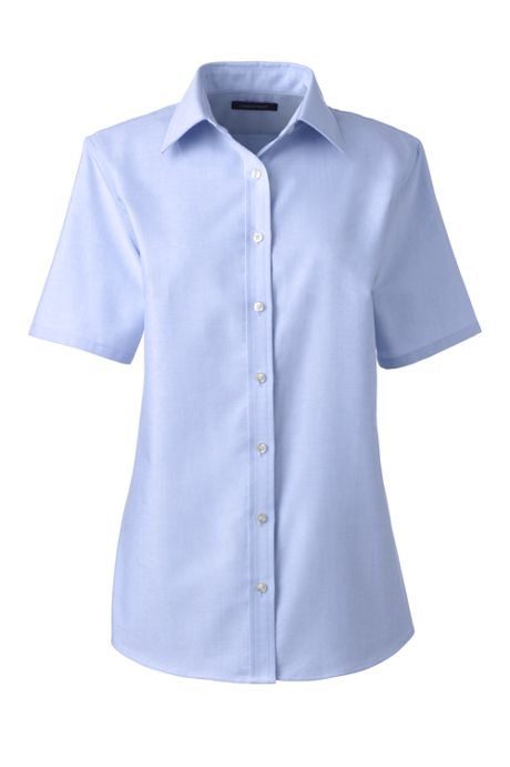 Women's Plus Size Short Sleeve Oxford Shirt