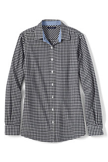 Women's Chambray-trimmed Flannel Shirt