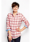 Women's Regular Chambray-trimmed Flannel Shirt