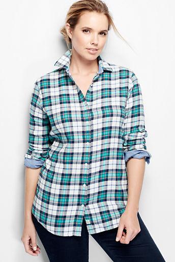 3225ba10a2612 ... Women s Plus Size Flannel Shirt - Winter White Tartan