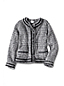 Little Girls' Long Sleeved Tweed Button Front Jacket