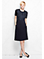 Women's Regular Woven Panel Welt Pocket Shift Dress