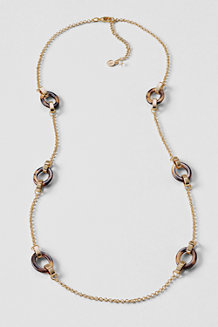 Women's Tortoise Chain Long Necklace